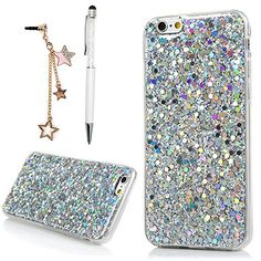 iPhone 6 Plus / Plus Case YOKIRIN Luxury Sparkle Powder Diamond Paillette Bling Slim Glitter Flexible Soft Rubber Gel Silicone TPU Protective Shell Hybrid Bumper Cover Skin - Silver Diy Gifts For Men, Sparkle, Iphone 6 Plus Case, 5s Cases, Design Case, Iphone Se, Cell Phone Accessories, Diamond, Glitter