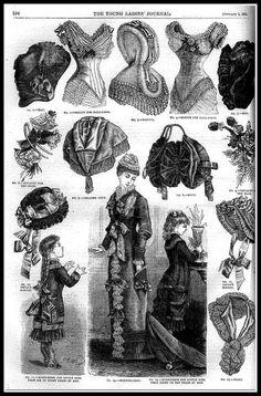 1881 Vintage Fashion Plates - Ladies Home Journal No.6