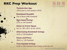 RKC Preparation Workout (Kettlebell Workout)