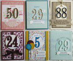 Cards inspired by Julie Kettlewell, Katina Martinez, Dawn Easton, Dawn Olchefske, and Patsy Waggoner, with my own twists.