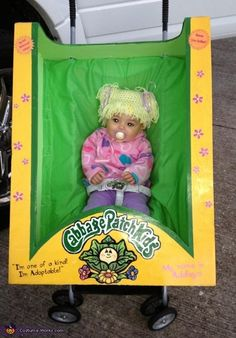 You got to do this with your baby next halloween!  Cabbage Patch Doll - 2012 Halloween Costume Contest
