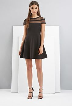 FOXIEDOX Shadow-Striped Skater Dress | Forever 21 - 2000161619