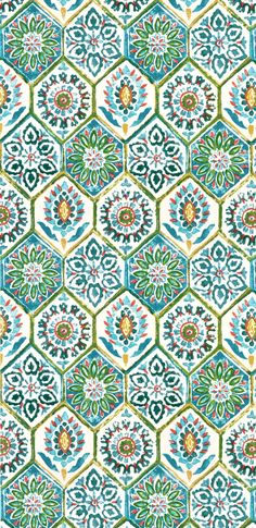 Kaufmann Outdoor Summer Breeze Poolside Fabric - would be really cute tiles on a kitchen splashback