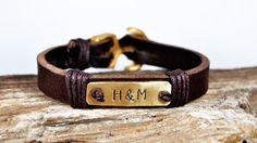 FREE SHIPPING  Men bracelet leather men bracelet by FosforStore, $36.00