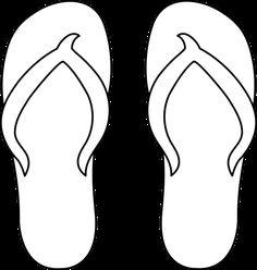Colorable Flip Flop Sandals - Achtergrond is ook wit i.p.v. zwart!