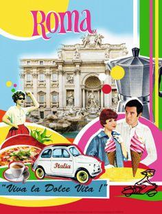 Vintage travel poster - Rome