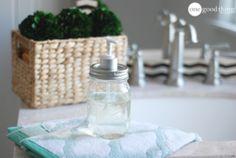 Make a Simple Mason Jar Soap Dispenser