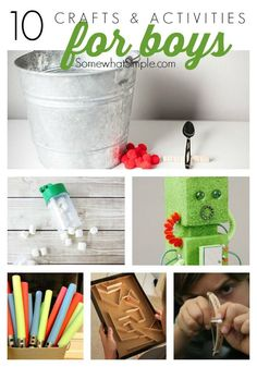 10 Crafts and Activities for Boys