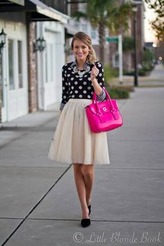 Gingham shirt & dotted sweater