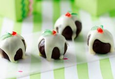 Little Chocolate Christmas Puddings - The Australian Women's Weekly