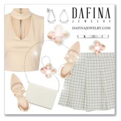 """Dafina Jewelry"" by andrejae ❤ liked on Polyvore featuring Nine West, Charlotte Russe, earings, jewelry, rings, whitegold and dafina"