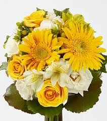 white roses with yellow gerberas bouquet - Google Search