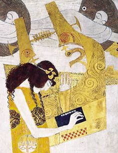 Beethoven Frieze: Poetry, Gustav Klimt, 1902