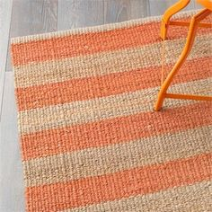 We Love this Armadillo & Co Nest Weave Awning Stripe Tangelo