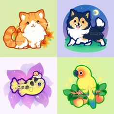 More pet commissions! pic.twitter.com/lV5F0JKtzY Cute Kawaii Animals, Cute Animal Drawings Kawaii, Cute Cartoon Drawings, Cute Cartoon Animals, Kawaii Art, Cartoon Pets, Leopard Gecko Cute, Kitten Tattoo, Fox Illustration