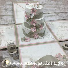 Explosionsbox zur Hochzeit mit Torte.