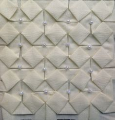Block 11: beaded origami – Textured 4-patch quilt | Sewn Up by TeresaDownUnder