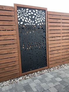 – Privacy screen made of metal, decorative panel, garden fence for outdoors – pergola Privacy Fence Panels, Privacy Fence Designs, Outdoor Screens, Privacy Screen Outdoor, Backyard Privacy, Backyard Fences, Backyard Landscaping, Metal Fence Panels, Diy Pergola