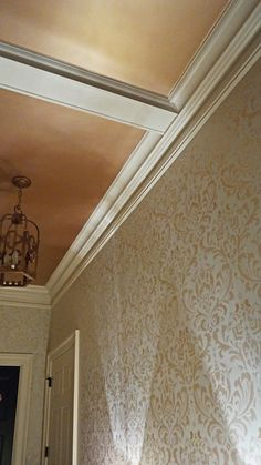 3a94daf67cec Pale Gold Metallic Paint on Ceiling and Walls