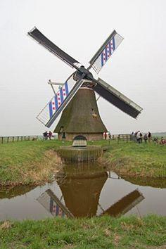 Polder mill Bullemûne / De Bullemolen, Lekkum, The Netherlands