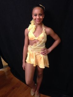 Nia in her costume for her solo 'Freedom in Paradise'