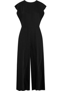 MM6 Maison Margiela - Crepe De Chine Wide-leg Jumpsuit - Black - IT38