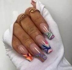 Nail Design Stiletto, Nail Design Glitter, Nail Design Spring, Edgy Nails, Funky Nails, Stylish Nails, Swag Nails, Summer Acrylic Nails, Best Acrylic Nails