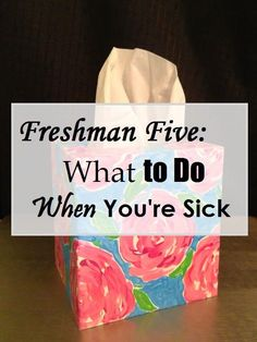 Getting sick in college is worse than being sick in high school! Here are some tips on what to do if it happens to you! college student resources, college tips #college