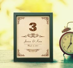 Lik86 Leather Engraved Wedding Third Anniversary three years personalized gift name date
