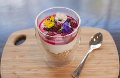 Delicious healthy berry yoghurt for breakfast in dish restaurant at the Royce Hotel Melbourne Melbourne Accommodation, Hotel Meeting, Royce, Acai Bowl, Berry, Panna Cotta, Restaurant, Dishes, Breakfast