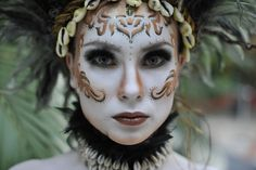 First Place Makeup by Loren Huckin; Photo by Nick Wall.  IMATS London 2011 Beauty/Fantasy Student Competition.