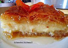 νηστισιμο γαλατομπουρεκο Greek Sweets, Greek Desserts, Greek Recipes, Vegan Sweets, Vegan Desserts, Fun Desserts, Dessert Recipes, Cookbook Recipes, Cooking Recipes