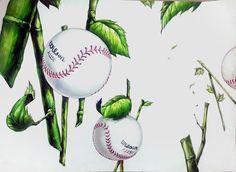 야구공, 대나무