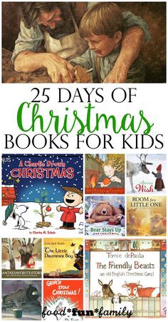 25 days of Christmas books for kids from Food Fun Family
