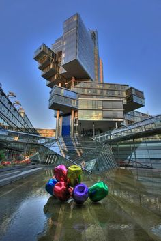 Norddeutsche Landesbank, Hannover, Germany.    (I haven't actually seen this place, but I would have loved to see this).