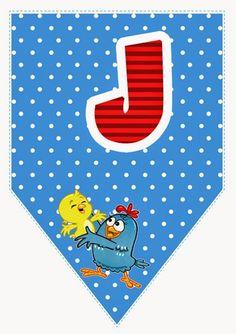 Alfabeto de Banderines de Gallinita Pintadita.