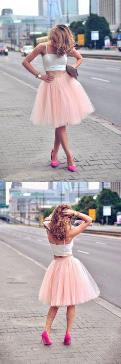 short pink tutu skirt, tutu skirt bridesmaid dress