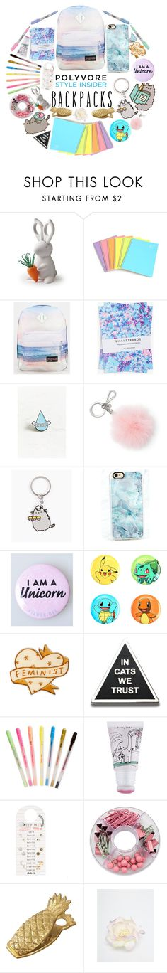 """""""Back to school #backpacks"""" by the-m-forever ❤ liked on Polyvore featuring JanSport, Pusheen, Nikki Strange, Stay Home Club, MICHAEL Michael Kors, Casetify, Loungefly, ban.do, too cool for school and ASOS"""