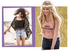 CALI GIRLS: Get in on this season's festival inspired looks. Floaty silhouettes, rock 'n roll details and folky prints will have you feeling young, wild and free. Shop this story in-store and online now: http://bit.ly/1l7AJBH
