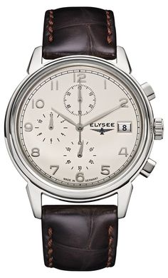 ELYSEE is an authentic German watchmaking brand founded in with a presence in over 30 countries around the world. Amazing Watches, Retro, Quartz Watch, Omega Watch, Rolex Watches, Leather, Accessories, Germany, Products
