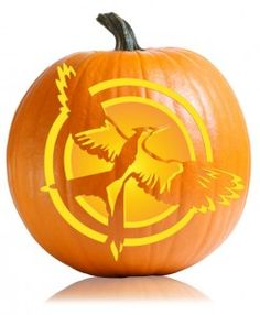 Mockingjay Hunger Games Cover Pumpkin Pattern  //  I just want all these HG pumpkins ok?!