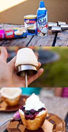Give these a quick toast over the fire then pack 'em with fresh fruit, canned fruit, or anything else you'd like. From here.More ideas: 29 Campfire Recipe Ideas You'll Want To Try