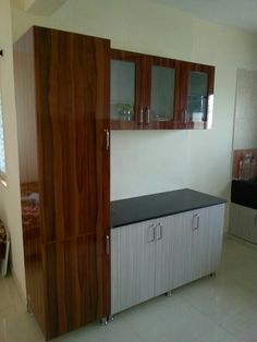 Simple Kitchen Design, Kitchen Room Design, Home Room Design, Home Design Decor, Dining Room Design, Interior Design Kitchen, Wardrobe Door Designs, Wardrobe Design Bedroom, Bedroom Bed Design