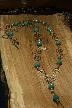 Κολιε απο Συρμα αλπακα με κρυσταλλα - Necklaces wire alpaca with cryst – Handmade Greek Jewellery