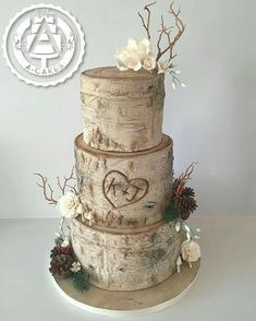 Hochzeitstorten blumen Tree effect cake Best Picture For wedding cakes simple tropical For Your Taste You are looking for something, and it is going to Country Wedding Cakes, Wedding Cake Rustic, Rustic Cake, Elegant Wedding, Floral Wedding, Wedding Events, Our Wedding, Dream Wedding, Wedding Ideas