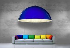 Perfect combination. Architectural concrete and big lamp by Luminato