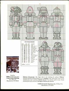 Schema punto croce Calza Soldatini 1e