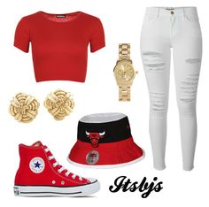 """""""Red/white/bucket/gold/Chicagobulls/converse"""" by itsbjs on Polyvore"""