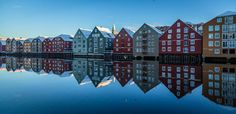 trondheim norway | Trondheim warehouses on the water