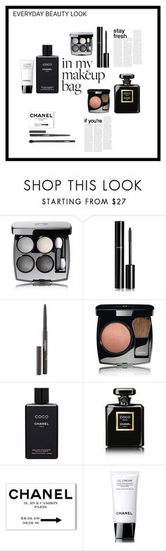 """""""Makeup"""" by deborah-lefert ❤ liked on Polyvore featuring beauty, Chanel, Oliver Gal Artist Co. and makeupbag"""